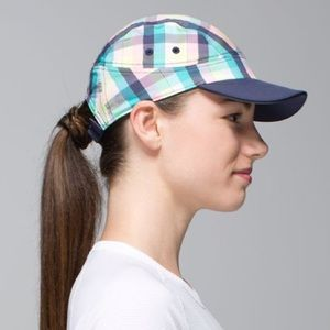 Lululemon Race To Place Run Hat in Plaid